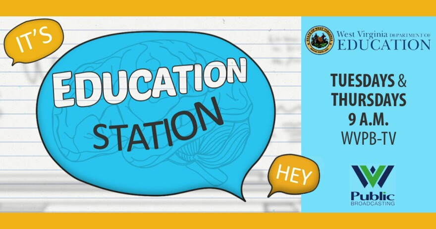 This is a graphic for Education Station, which airs on WVPB Tuesdays and Thursdays at 9 a.m.