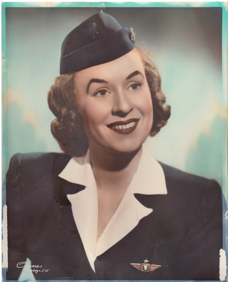 Phila Hach's first career was as a flight attendant in the postwar 1940s.