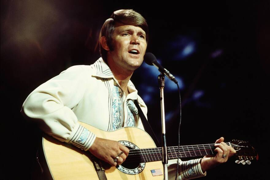 Glen Campbell performs in 1970 in the United Kingdom.