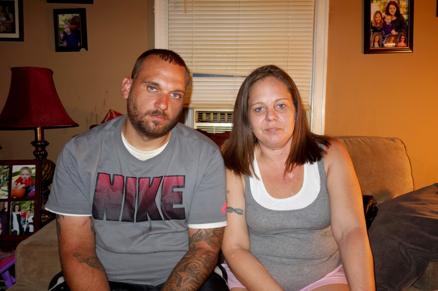Nate and Angela Turner, of Greenwood, Ind., take the drug Suboxone twice a day to control their cravings for opioids and heroin. Nate says the drug has helped him hold onto his job and stay in counseling as he works to quit his addiction to painkillers.