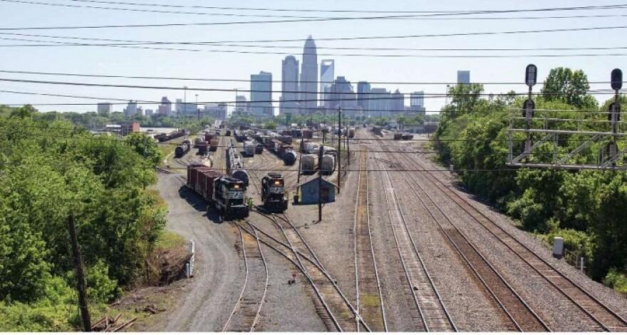 Charlotte Railyard Skyline