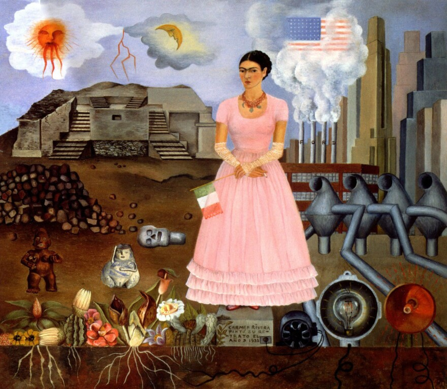 Frida Kahlo painted <em>Self-Portrait on the Borderline between Mexico and the United States </em>in 1932.