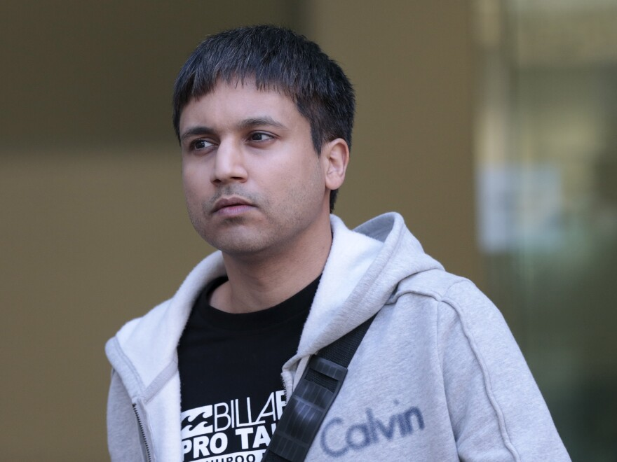 """Navinder Singh Sarao leaves Westminster Magistrates' Court in London last month. He has been indicted by U.S. prosecutors on charges of market manipulation that contributed to the Wall Street """"flash crash"""" in 2010."""