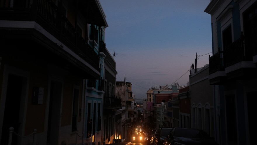 View of Old San Juan, Puerto Rico, on April 18, 2018, after a major failure knocked out the electricity leaving the entire island without power, again. The electricity was eventually restored, but 1.5 percent of customers have had no power in the eight months since Hurricane Maria destroyed the electrical grid.