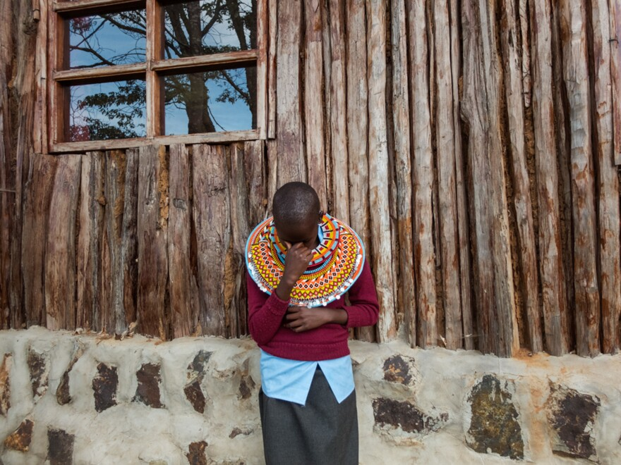 "Naramat: ""I'm at the Samburu Girls Foundation because I had many challenges at home. I wanted to go to school but no one would take me there. I am at peace because I am in school now. I want to be a teacher. A girl can be educated and be someone, like any other person in the world."""