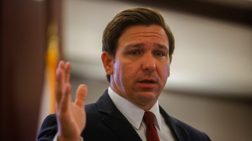 """Under the """"phased approach"""" announced by Gov. Ron DeSantis, the Florida Division of Emergency Management will provide """"an initial disbursement"""" of 25% of each county's allocation."""