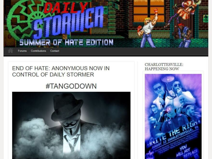 The Daily Stormer site had a story that claimed to be written by hackers and gave the site 24 hours before it would be deleted — the same deadline set by GoDaddy.