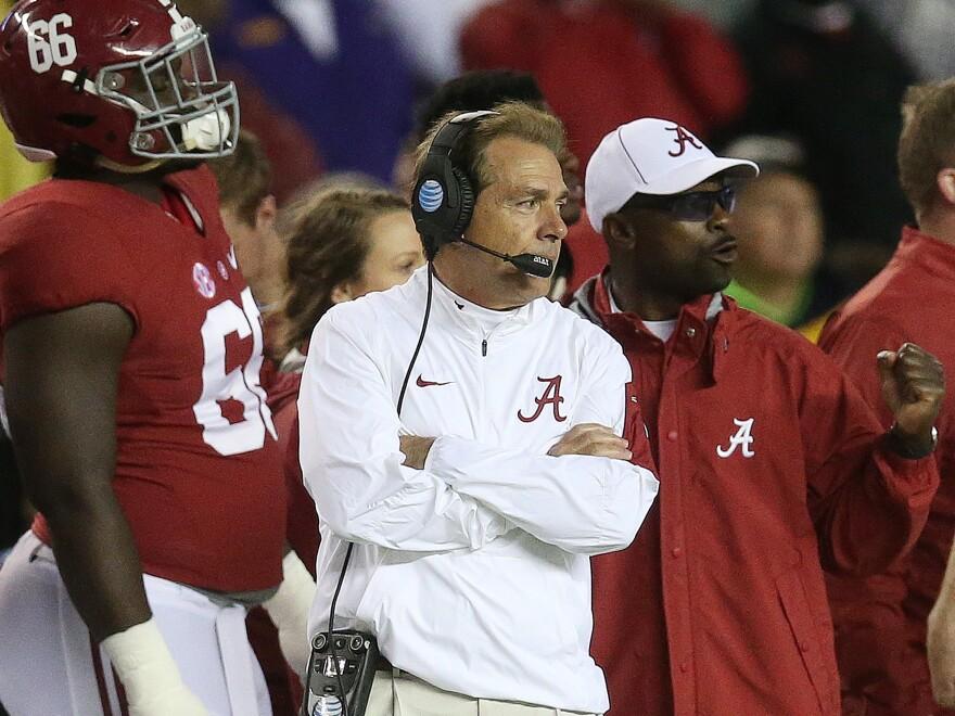 Head coach Nick Saban took over the Alabama football program in 2007.