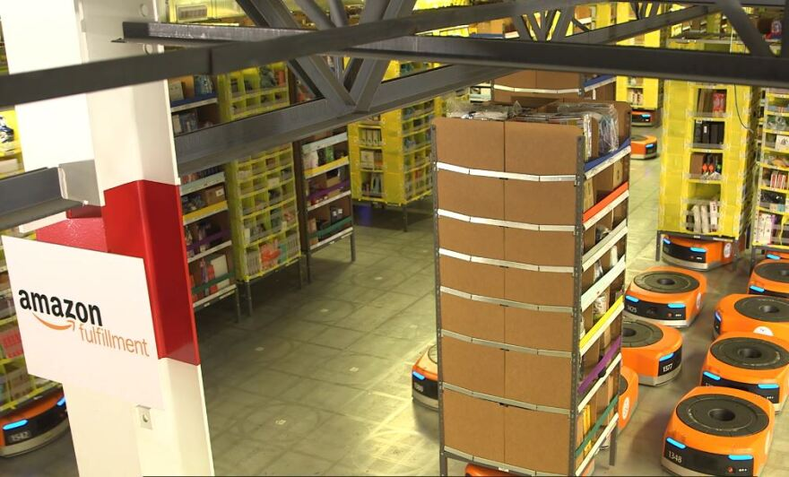 Inside Amazon fulfillment center