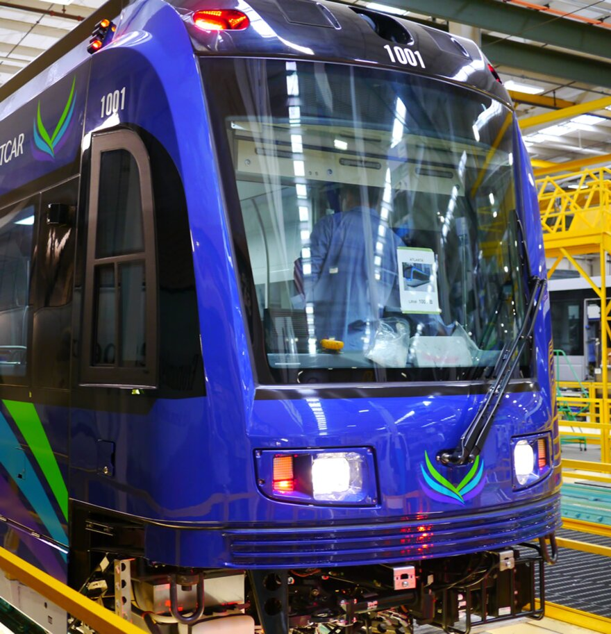 The new Atlanta streetcars are scheduled to hit the tracks next spring.