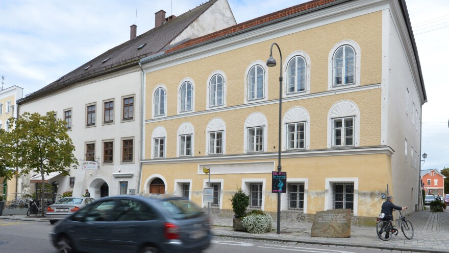 A view in 2012 of Adolf Hitler's birth home in Braunau am Inn, Austria. The country's top court says Gerlinde Pommer should receive $908,000 from the government in exchange for the property.