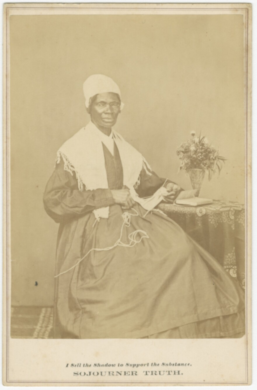A cabinet card of Sojourner Truth from 1864 is among the oldest prints included in the special exhibition documenting the lives and cultures of African-Americans.
