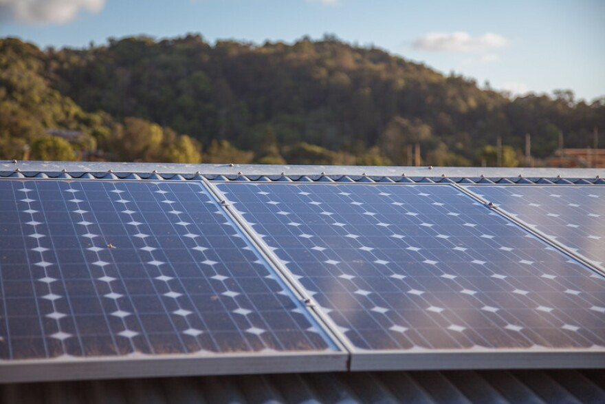 A photo of solar panels.