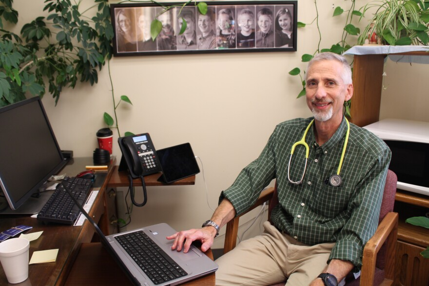 "For months after Mercy Hospital Fort Scott closed, patients couldn't as quickly get appointments with Dr. Max Self. ""I don't like to hear that,"" Self says. His new employer, Community Health Center of Southeast Kansas, assigned him a medical scribe to help with computer work. Now, Self says, he's able to see more patients."