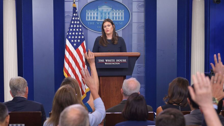 """""""All White House personnel have been instructed to use official email to conduct all government-related work,"""" press secretary Sarah Sanders said after reports emerged of senior Trump administration officials using private email."""