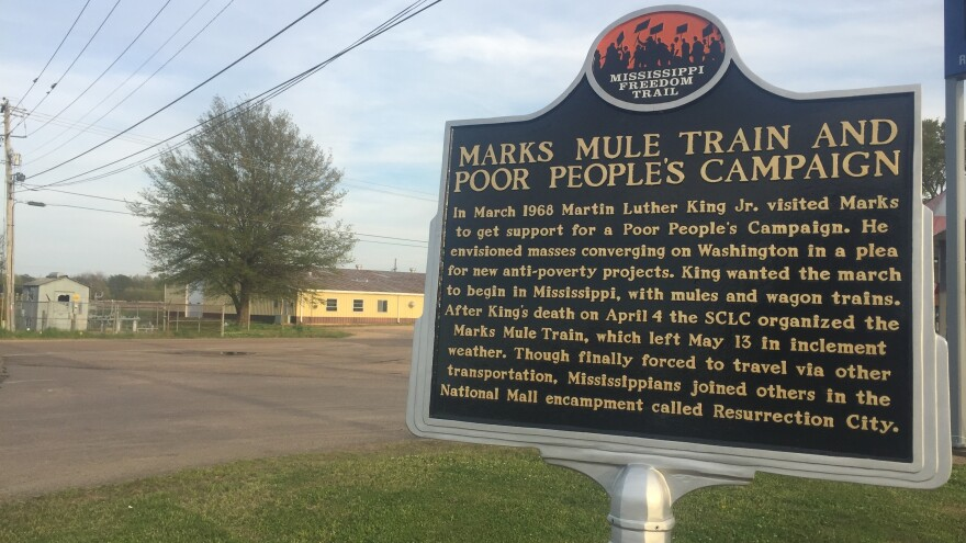 Marks is now a stop on Mississippi's Freedom Trail highlighting civil rights history.  Local officials hope to draw tourists to the area as a way to spark more business.