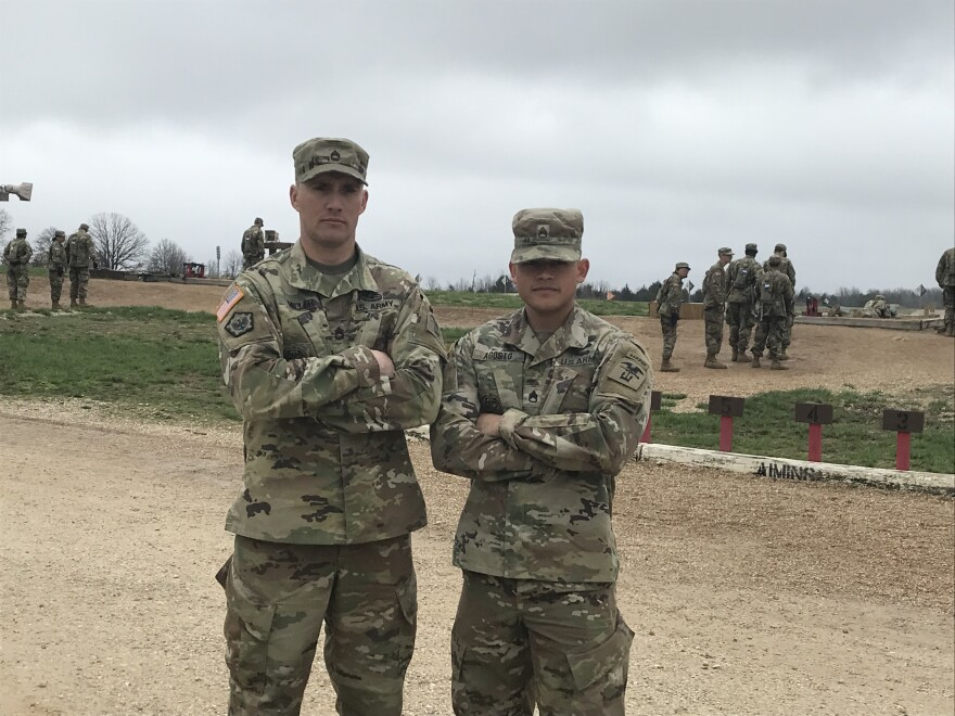 Staff Sergeants Bradley Miller and Rafael Agosto are one of the teams from Fort Leonard Wood in the Best Sapper Competition.