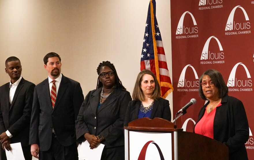 Members of local organizations announce the forming of the Regional Youth Employment Coalition  which aims to reduce the racial unemployment gap.