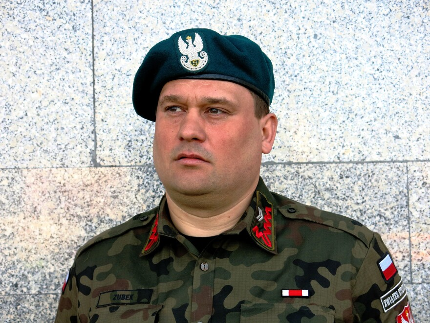 """""""We have a chance to make something that helps in the defense of our country,"""" says Waldemar Zubek, a staff sergeant with a Polish militia."""