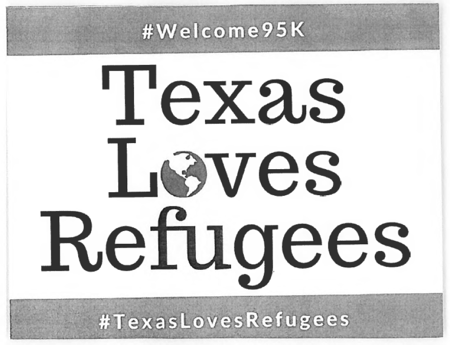 Texas Loves Refugees post card