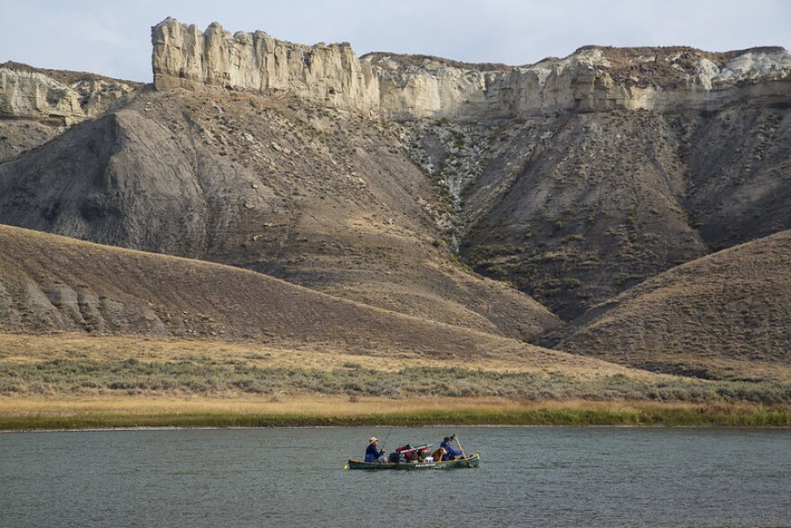Boaters on the Missouri River