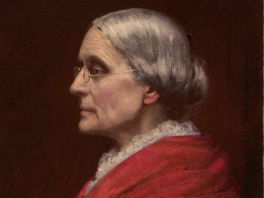 This 1895 portrait of Susan B. Anthony was painted by Carl Gutherz when Anthony was president of the National American Woman Suffrage Association, a group dedicated to women's voting rights.