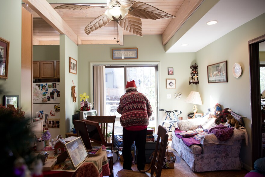 Mary and Terry Downs built an apartment onto their home for Helen seven years ago, so she could live there safely with Alzheimer's.