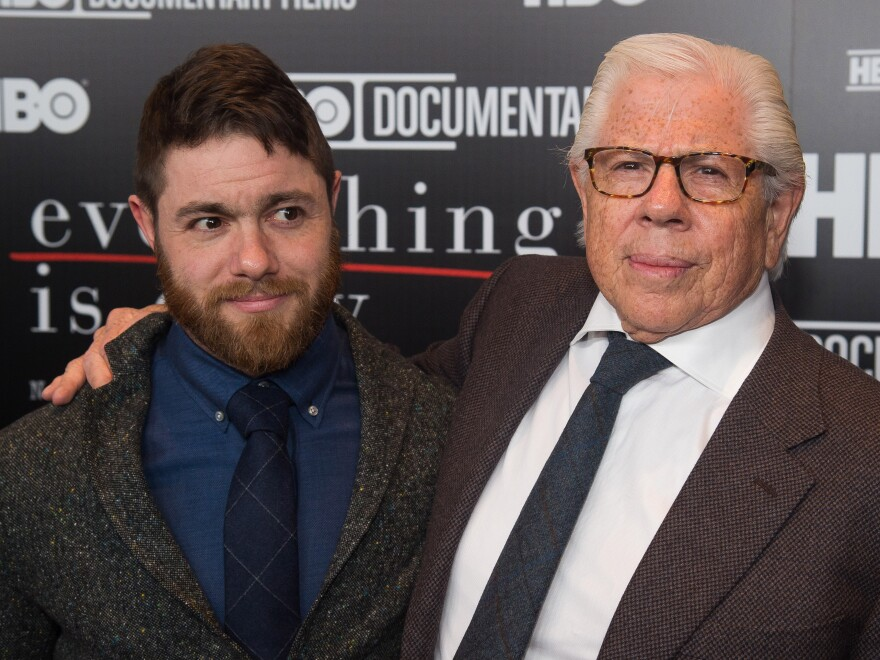 Jacob Bernstein, left, says <em>Everything Is Copy</em> wouldn't have been complete without the participation of his father, Carl Bernstein.