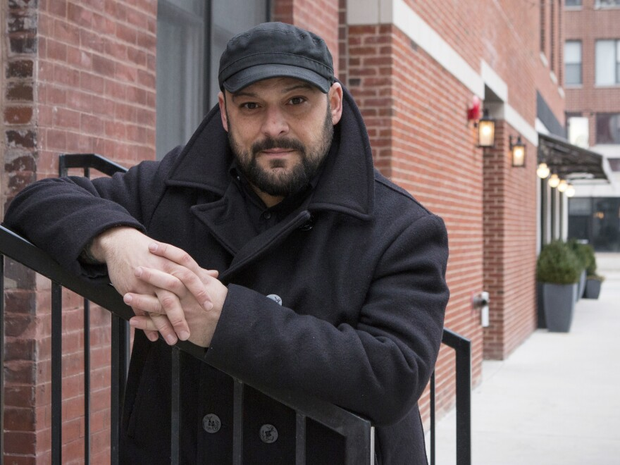 Christian Picciolini, founder of the group Life After Hate, poses for a photograph outside his Chicago home. Picciolini, a former skinhead, is an activist combatting what many see as a surge in white nationalism across the United States.