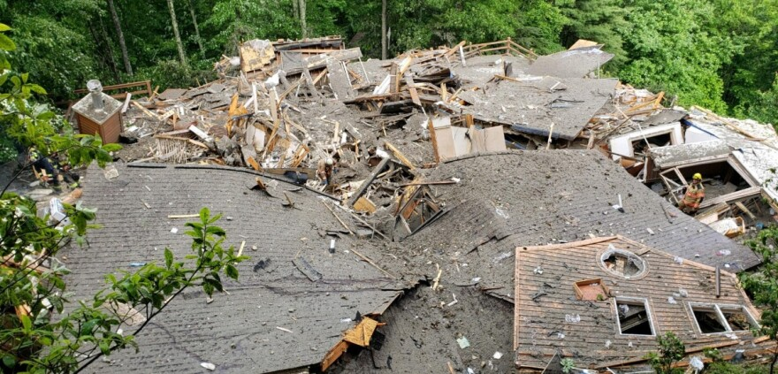 Two Boone residents were killed after their home collapsed as a result of Subtropical Storm Alberto.