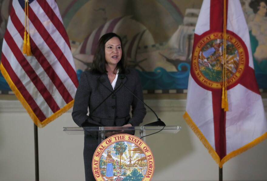 Florida Attorney General Ashley Moody is shown, Wednesday, Jan. 9, 2019, in Miami.