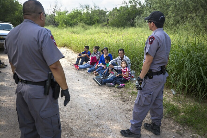 Migrants from Honduras apprehended by Border Patrol