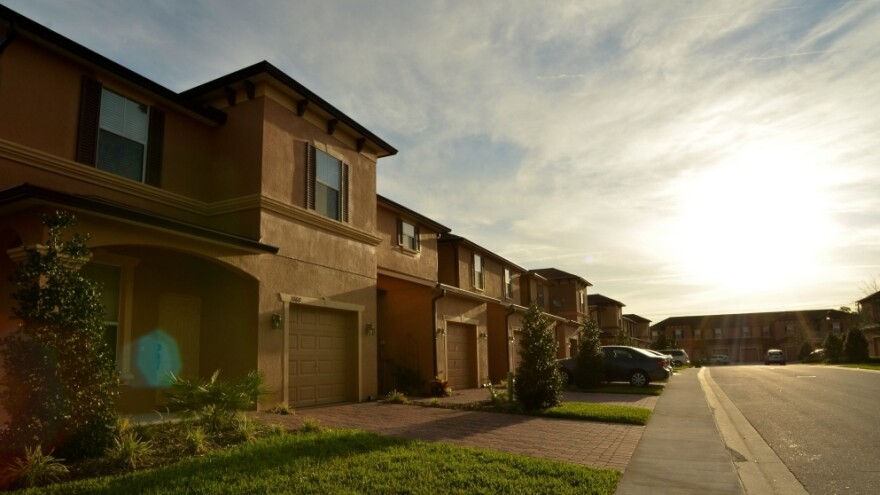Homes sit along Retreat View Circle in Sanford, Fla., near where Trayvon Martin was shot by neighborhood watch volunteer George Zimmerman.