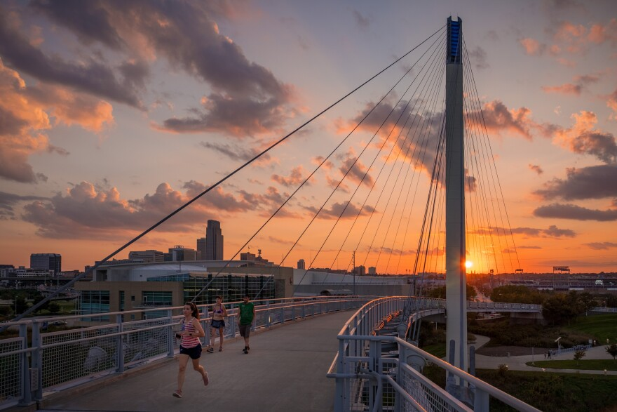 Bob Kerrey Pedestrian Bridge_Omaha Skyline.jpg