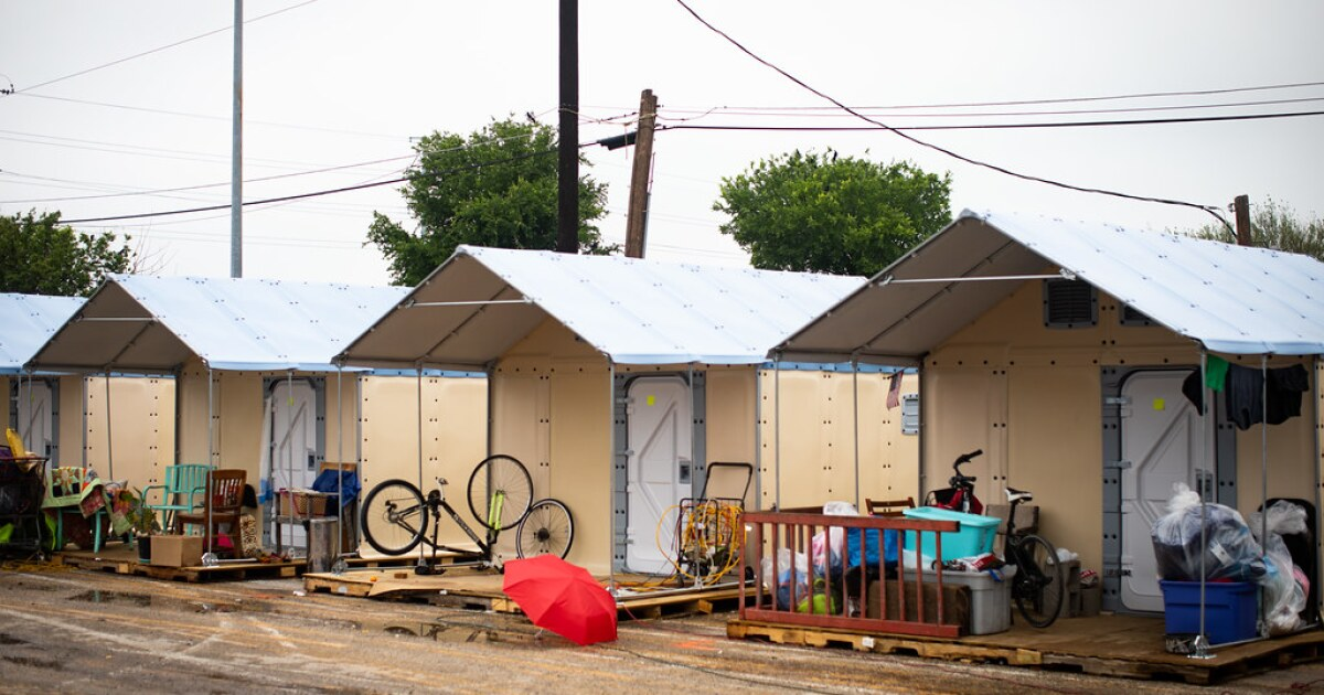 As Camp Gets Demolished, New Shelters Are Built For Austinites Experiencing Homelessness