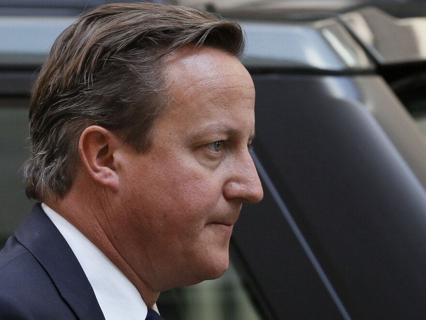 "British Prime Minister David Cameron, <a href=""https://twitter.com/David_Cameron/status/372646100798558208"">who says</a> it is time for the U.N. Security Council ""to live up to its responsibilities on Syria."""