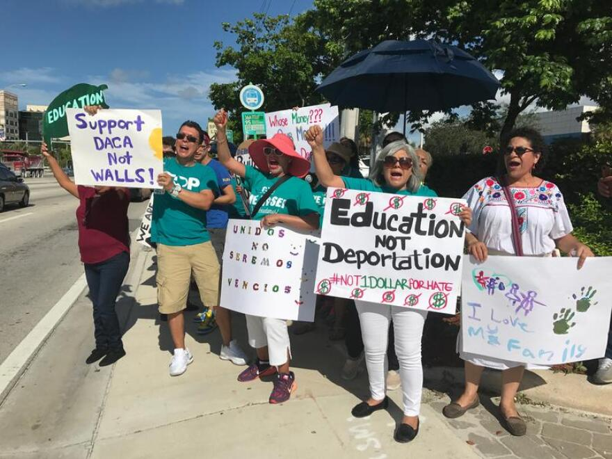 Immigration activists rallied in Miami in early August.