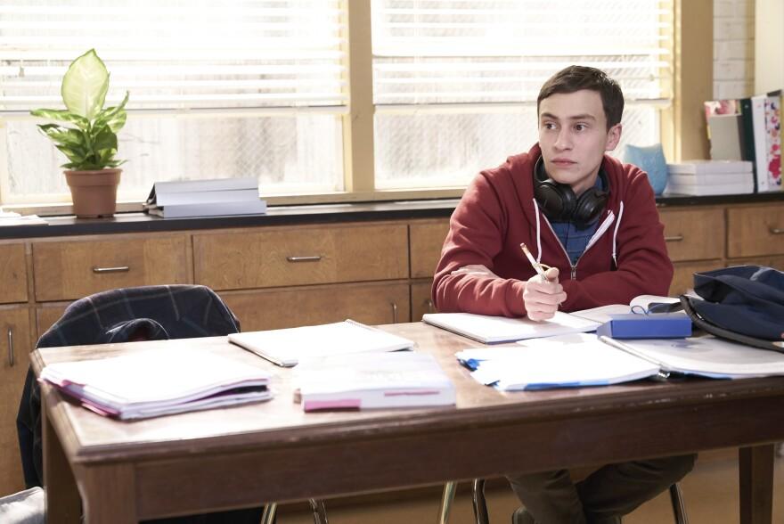 "Keir Gilchrist plays Sam, a high schooler who has autism, in Netflix's new series <a href=""https://www.youtube.com/watch?v=ieHh4U-QYwU""><em>Atypical</em></a>."