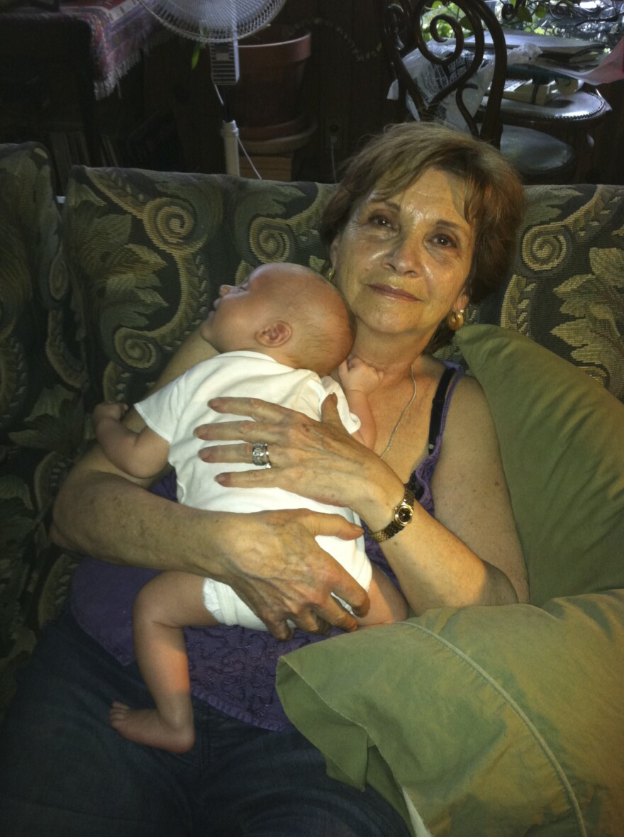 "Abby Spitzer of Croton-on-Hudson, N.Y., with her grandson Auden White in 2013. Abby died on May 5, 2020. ""Many of us feel the compulsion to prove over and over again that our tragedies are real,"" says her daughter Jennifer Spitzer."