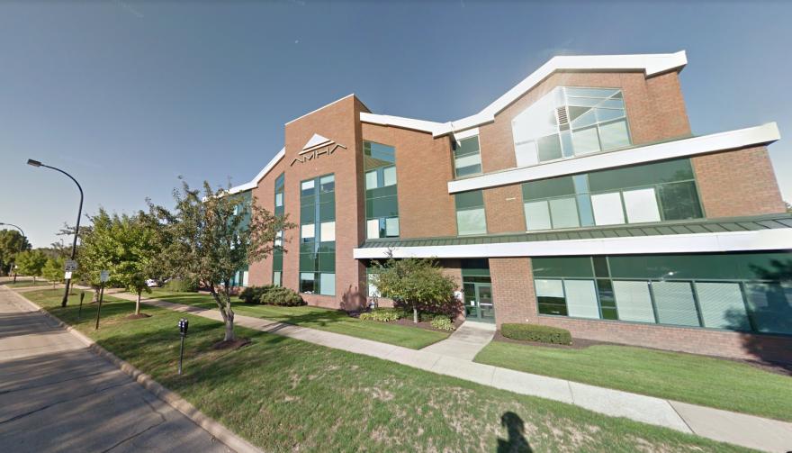 A streetview of the Akron Metropolitan Housing Authority