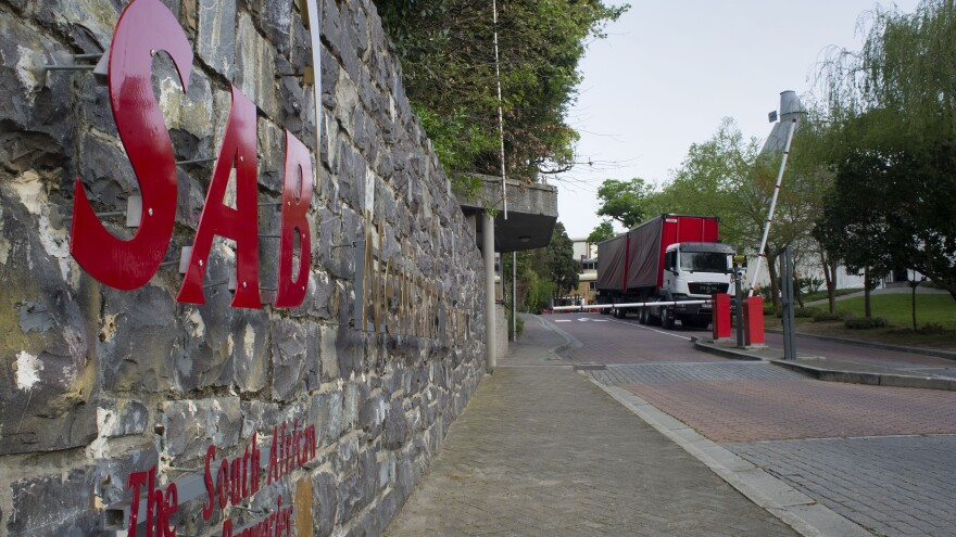 SAB Miller, the world's second largest beer brewer, has rejected a $104 billion takeover offer. Here, one of the company's trucks leaves the Newlands Brewery in Cape Town.