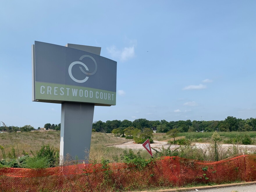 The old Crestwood mall was demolished in 2016, but some signs remain on the property.