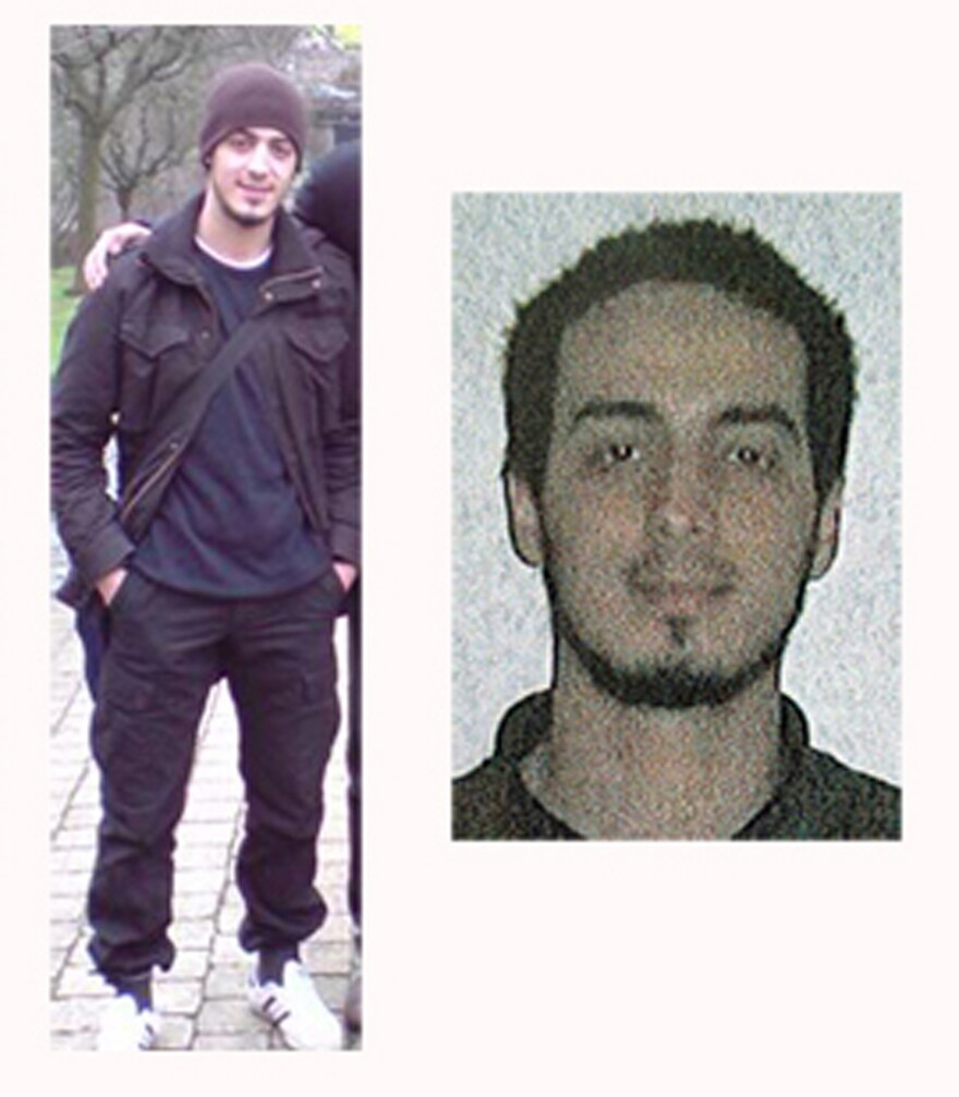 Najim Laachraoui in a combination photo provided by the Belgian Federal Police in Brussels.