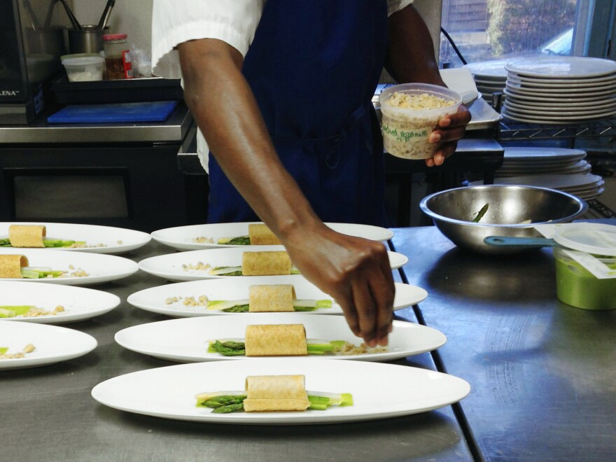 For chefs at the Marigold Kitchen in Philadelphia, as in most professional kitchens, it's all about order and organization.