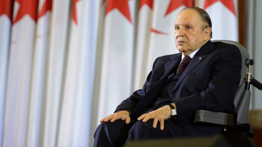 Abdelaziz Bouteflika seen in 2014. The now 82-year-old has rarely appeared in public after a stroke in 2013.