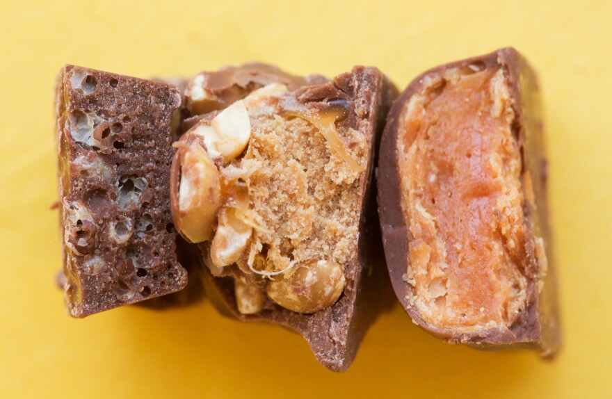 (From left) Nestle Crunch, Baby Ruth and Butterfinger.