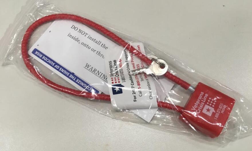 Thousands of these gun locks will be distributed in Broward County.