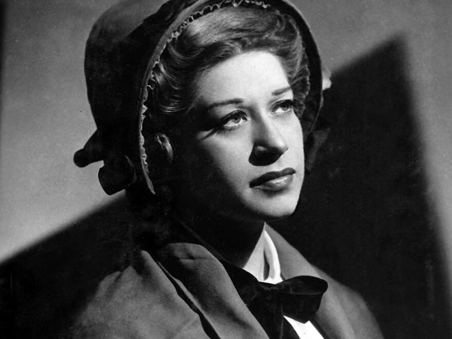 Regina Resnik as Ellen Orford in the Metropolitan Opera premiere of Benjamin Britten's <em>Peter Grimes</em> in 1948.