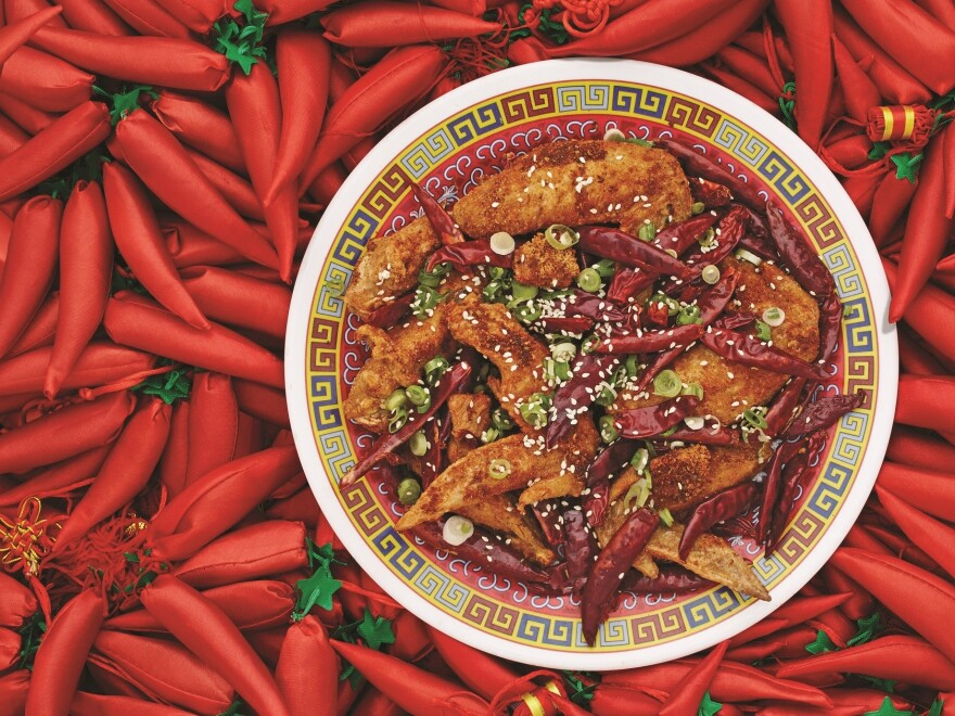 "Danny Bowien says Sichuanese cuisine is ""really about balance and restraint and not having things be over-the-top spicy."" Bowien's Chongqing Chicken Wings, featured in <em>The Mission Chinese Cookbook, </em>are pictured above."