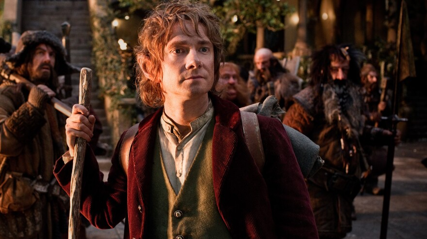 Bilbo Baggins (Martin Freeman) takes a fantastic adventure across Middle-earth in Peter Jackson's prequel to his <em>Lord of the Rings</em> trilogy.